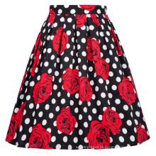 Grace Karin Retro Vintage 1950s Pleated Cotton Floral Print Skirt CL6294-25