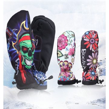 Winter Workout Sports Adult Leather Snowboard Gloves