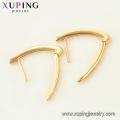 97069 xuping hoop 18k gold color Luxury Synthetic CZ women earrings
