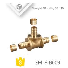 EM-F-B009 3-way pex tubo de latão tee