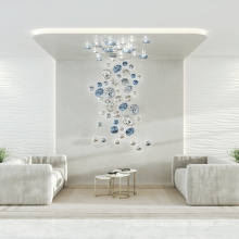 Bedroom office hanging clear glass led pendant lamps