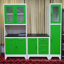 Knock down home furniture for optional color metal kitchen cabinets