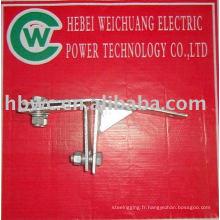 Raccords d'alimentation électrique-collier de serrage fot tour