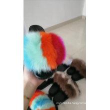Hugely popular out-door  fox fur slides for women