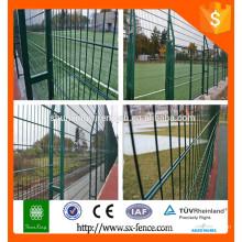 Clôture en treillis en treillis en vinyle vert, double clôture métallique