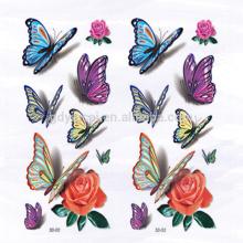 Tatouage 3d temporaire d'autocollant de papillon-forme sexy pour couvrir des cicatrices