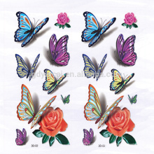 Sexy Butterfly-shape Temporary 3D sticker tattoo for Covering scars