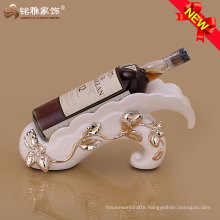 2016 new design wine rack with resin material for home decor