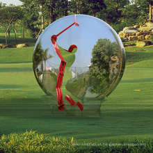 esculturas ao ar livre chinês metal artesanato escultura bola de espelho