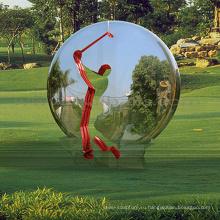 китайский открытый скульптура металл ремесло зеркальный шар скульптура