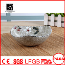 Cerâmica Bowl Atacado, novo design tigela de salada de cerâmica, fruteira de cerâmica