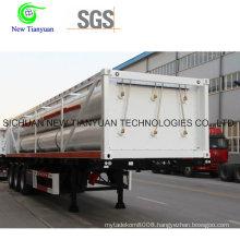 Hydraulic System CNG Jumbo Cylinder Transportation Semi Trailer