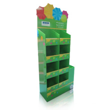 Reusable Cardboard Floor Stand for Umbrella, Compartment Display Stand