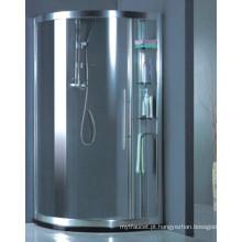Personalizar sanitários de vidro temperado Cabine de chuveiro simples (H014)