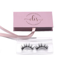 XM002T Hitomi Eco Friendly Eyelash Packaging Natural Looking 3D Mink Eyelashes Clear Band Luxury Real Fluffy 3D Mink Eyelashes