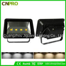 Lumières extérieures imperméables du projecteur AC85-265V de Shell LED de 200W noir