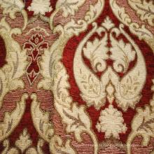 Tissu de luxe en gros de tissu de tapisserie d'ameublement de tapisserie d'ameublement de chenille de jacquard de conception de fleur