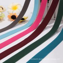 Billiges kundenspezifisches farbiges glänzendes elastisches Band für Kurzschlüsse