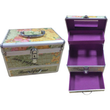 Colorful Crocodile Pattern Beautiful Cosmetic Case with Draw
