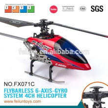 2.4G 4CH 6-axis gyro flybarless R/C fq777 helicopter alloy model with CE/FCC/ASTM/ROHS certificate