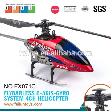 Lastest flying fun 2.4G 4CH 6-axis gyro metal flybarless rc model helicopter high quality