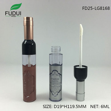 Unique wine bottle shape empty lipgloss tube