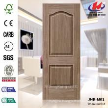 JHK-M01 Two Panels And Embossed Design EV Walnut 518 HDF FSC Door Skin