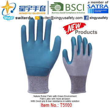 (Patent Products) Latex Coated Green Environment Gloves T5000