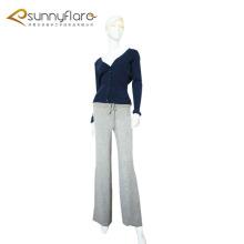 Femme 100% pur pantalon chaud en cachemire