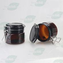 Bernstein Haustier Plastik luftdichtes Glas für kosmetische Frucht Maske (PPC-55)