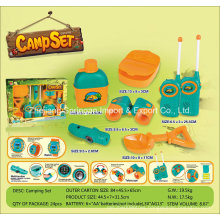 Boutique Playhouse Plastic Toy-Camping Set with 6 Accessories