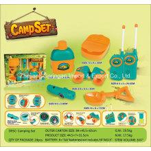 Boutique Playhouse Plastic Toy-Camping Set com 6 acessórios