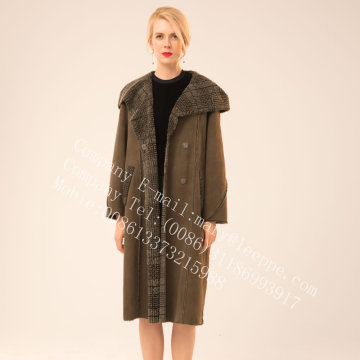 Reversible Spain Merino Shearling Coat For Lady