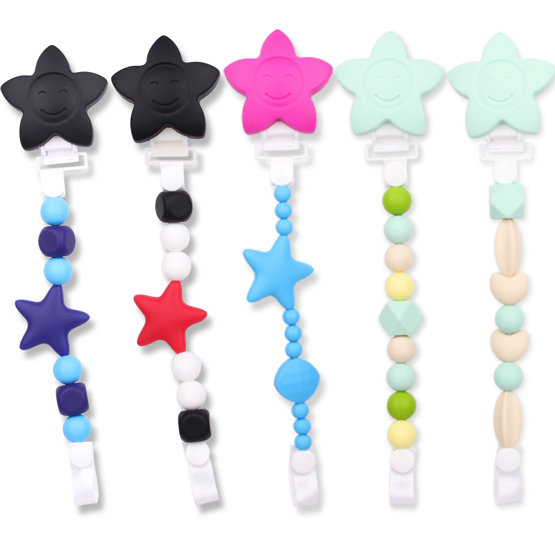 star pacifier clip
