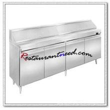 R266 2.4 m 4 Portas Fancooling Salad Work Bench