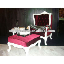 Manufacturing hot design Fabric lounge sofas with stool XYD137