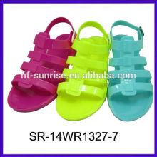 SR-14WR1327-7 senhoras pvc sandasl plástico sapatos sandálias calcanhar plano sandálias sandália por atacado geléia sandálias