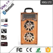 Fabrik Electroplating Lautsprecher Abdeckung & Panel aus Holz Wireless Bluetooth Lautsprecher Unterstützung FM LED Shinning TF / SD-Karte Musik spielen