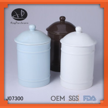 Flasche, Farbe glasierte Keramik-Kanister mit Deckel, Keramik-Glas mit Deckel