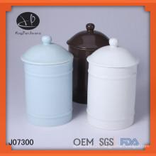 storage bottle,color glazed ceramic canister with lid,ceramic jar with lid