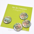thailand souvenir promotional gifts round clear epoxy fridge magnet stickers