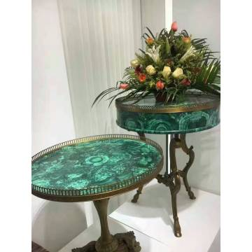 Table d'appoint vert malachite