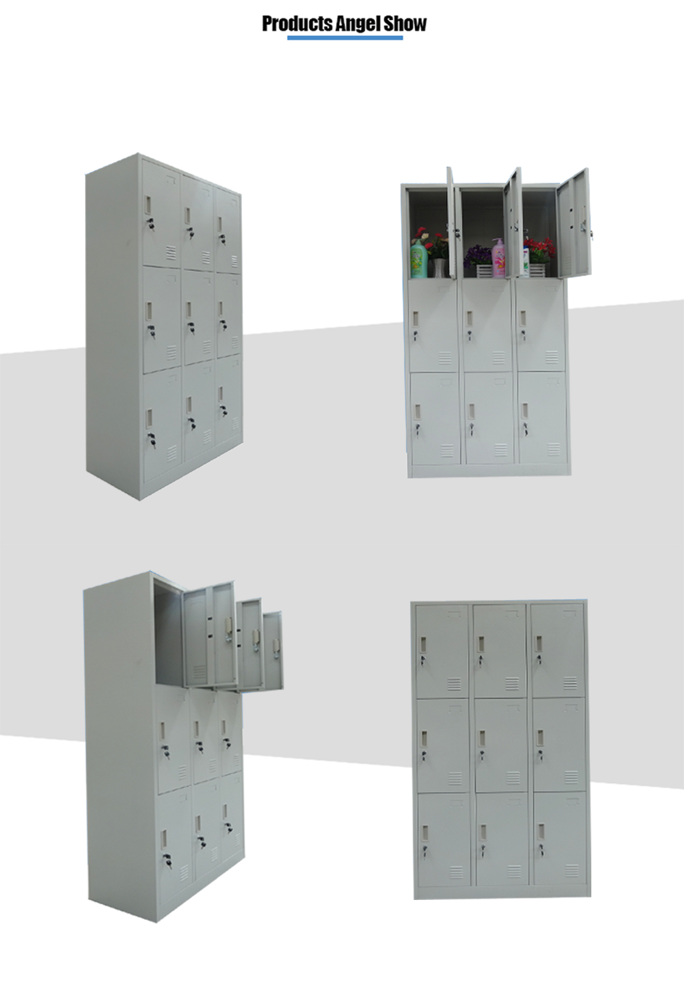 9 door metal locker