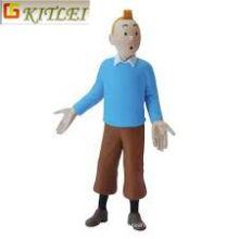 Figura de PVC Tin Tin azul