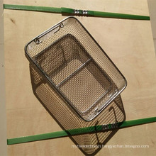 Heat Resistant Inconel 625 Wire Mesh Screen Basket / Inconel Wire Basket