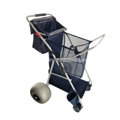 Mehrzweck 600D Oxford Stoff Deluxe Folding Utility Beach Cart
