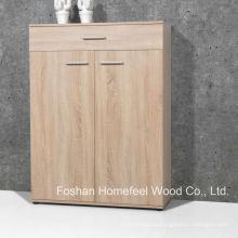 Simples Gabinete de sapato de madeira para casa com 2 portas e gavetas (SC05)