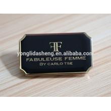 Acessório do lable do costume do metal do costume do ouro preto com alta qualidade e preço barato
