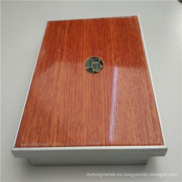 Paneles de panal de aluminio con aspecto de madera