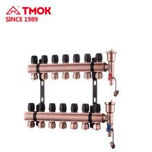 Manifolds para uso do sistema de aquecimento por piso radiante no tempo frio manual ou automático